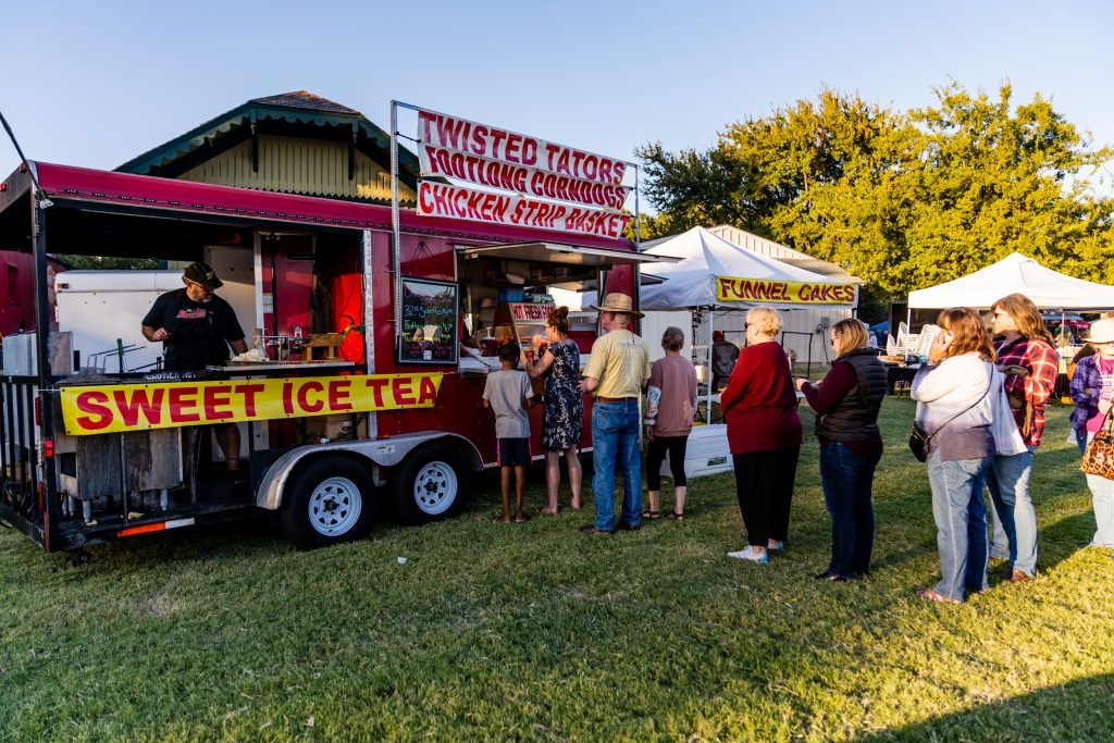 Bloomin' Bluegrass Festival Farmers Branch Twisted Tators Food Concession
