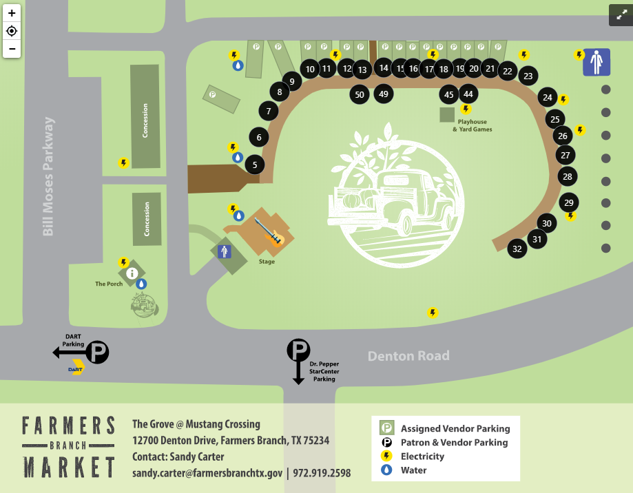 Farmers Branch Market Vendor Map