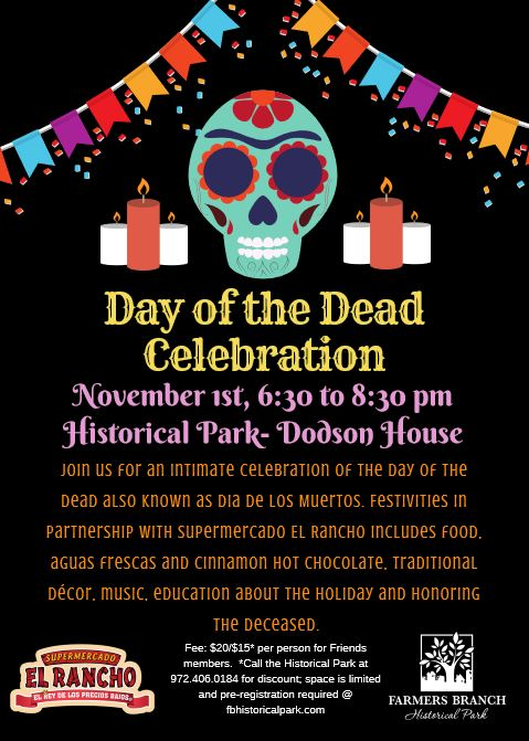 Day of the Dead Flyer November 1 ^:30 to 8:30 p.m.