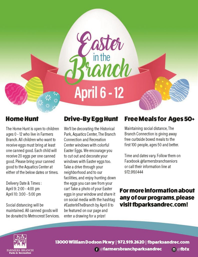 Farmers Branch Easter in the Branch