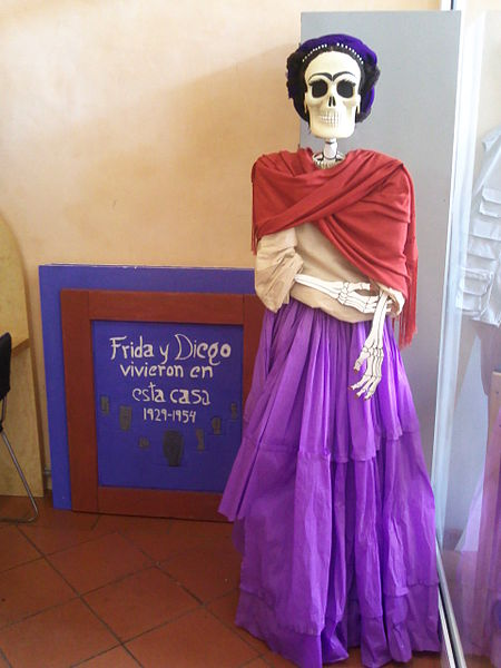 Effigy of Frida Kahlo for Day of the Dead at the Museo Frida Kahlo. Photo courtesy Monterrey Institute of Technology and Higher Education.
