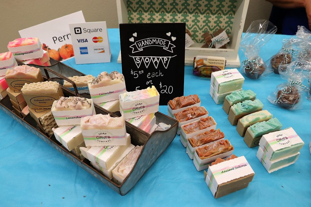 Oma's Homemade Soap at Hippie to Hipster Craft Fair in Farmers Branch